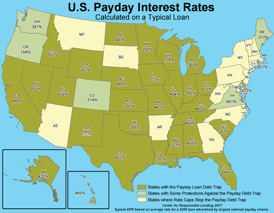 Map To Explore Which States Have Implemented Rate Caps To Stop The Payday Loan Debt Trap And Where The Rest Of The Other States Fall Within The Debt
